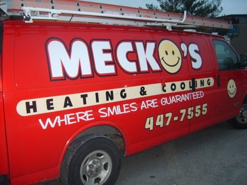 Meckos Heating & Cooling Truck