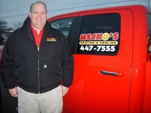 Dave Mecklenburg by truck