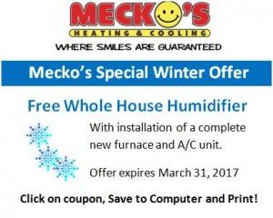 Humidifer Offer 2017