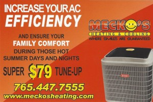 Meckos AC tune up card