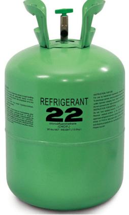 Tank of R22 refrigerant
