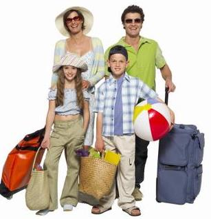 Family leaving on vacation