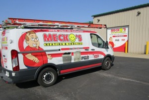 Mecko's Heating & Cooling truck