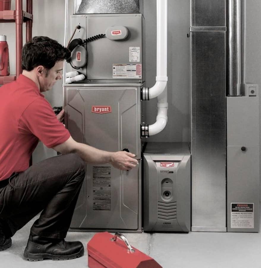 Bryant furnace installation